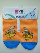 """Женские носки с рисунком в виде дерзких бананов и надписи """"Эй ты"""""""