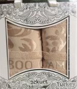 2 бамбуковых полотенца 50*90+70*140 в подарочной упаковке