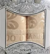 2 бамбук полотенца 50*90+70*140 в подарочной упаковке