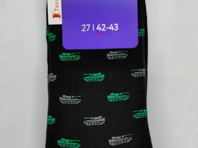 MF мужские носки с рисунком в виде танчиков