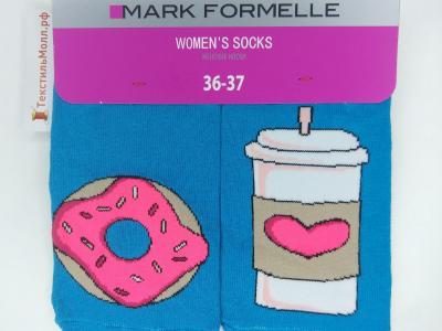 MF укороченные носки с рисунком в виде пончика и напитка