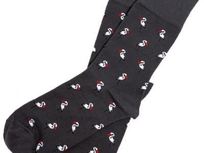 MF носки с рисунком в виде цапель