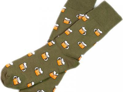 MF носки с высокой резинкой цвета хаки