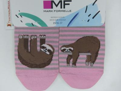 Укороченные женские носки с рисунком в виде Ленивцев