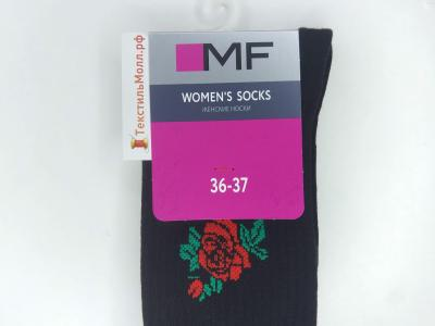 MF носки с высокой резинкой и вышивкой в виде розы