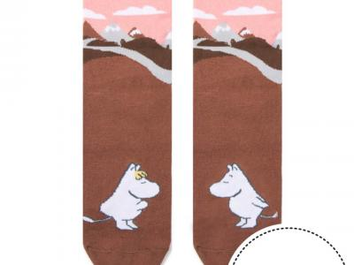 женские носки с рисунком в виде долины мумиков
