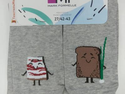 MF мужские носки с рисунком в виде сала и хлебушка