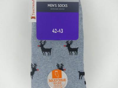 MF махровые носки с рисунком в виде новогодних оленей