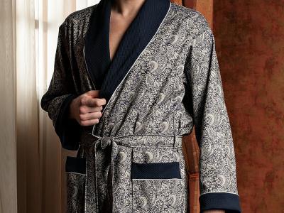 мужской халат махровый,  синий