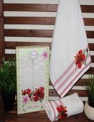 2 лицевых полотенца с вышивкой в подарочной упаковке