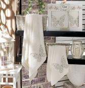 Комплект полотенец Sikel бамбук с вышивкой