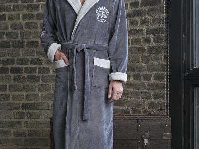 мужской бамбуковый халат с капюшоном